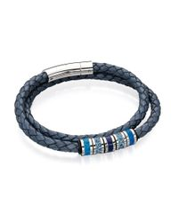 Fred Bennett - Blue And Grey Double Wrapped Leather for Men - Lyst