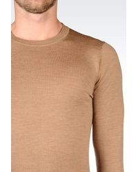 Emporio Armani | Brown Crewneck for Men | Lyst