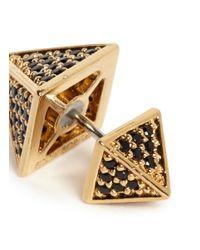 Eddie Borgo - Metallic Pavé Crystal Pyramid Earrings - Lyst