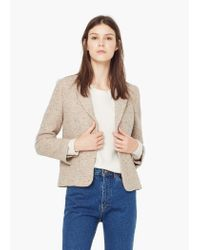 Mango | Natural Flecked Cotton Blazer | Lyst