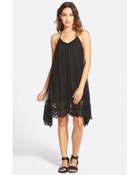 Volcom | Black 'take It Easy' Handkerchief Hem Halter Dress | Lyst