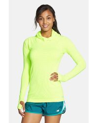 New Balance | Green 'premium - Made For Movement' Seamless Hoodie | Lyst