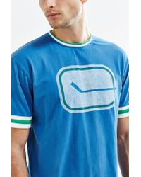 Urban Outfitters | Blue Vancouver Canucks Hockey Tee for Men | Lyst