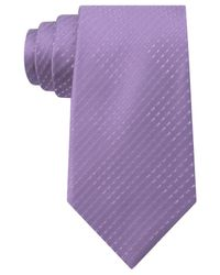 Sean John - Purple Opt Geo Unsolid Solid Tie for Men - Lyst