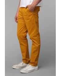 Urban Outfitters | Yellow Hawkings Mcgill Stretch Skinny Chino Pant for Men | Lyst