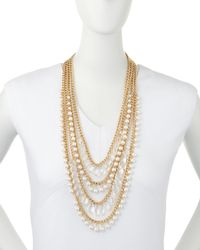 R.j. Graziano - Metallic Multi-strand Tiered Necklace - Lyst