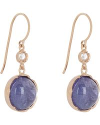 Irene Neuwirth - Blue Women's Gemstone Double-drop Earrings - Lyst
