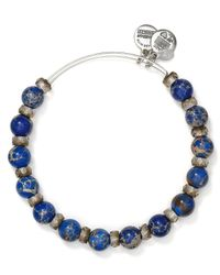 ALEX AND ANI - Blue Carousel Expandable Wire Bangle - Lyst