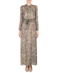 INTROPIA - Natural Abstract-Print Silk Maxi Dress  - Lyst