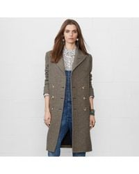 Denim & Supply Ralph Lauren - Gray Long Herringbone Coat - Lyst
