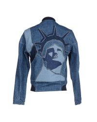 KENZO | Blue Denim Outerwear for Men | Lyst