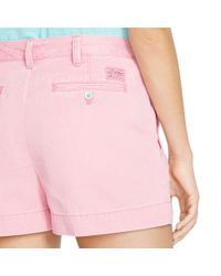 Polo Ralph Lauren | Pink Cotton Chino Short | Lyst
