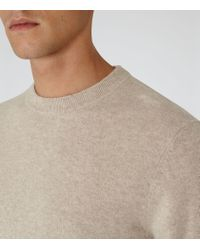 Reiss - Natural Hampton Cashmere Crew-neck Jumper for Men - Lyst