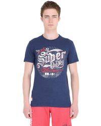 Superdry - Blue Tin Tab Printed Cotton T-shirt for Men - Lyst