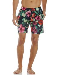 Dolce & Gabbana - Multicolor Navy Floral Print Swim Trunks for Men - Lyst