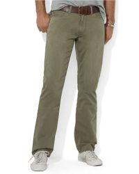 Polo Ralph Lauren | Green Straight-Fit Five-Pocket Chino Pants for Men | Lyst