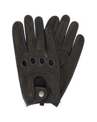Original Penguin - Black Sheepskin Leather Driving Gloves for Men - Lyst