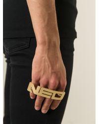 KTZ - Metallic 'Neo' Finger Ring for Men - Lyst