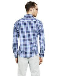 Vince Camuto | Blue Woven Sportshirt for Men | Lyst
