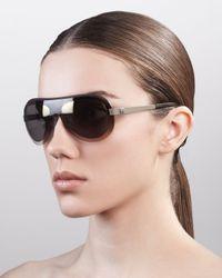 The Row - Oversized Shield Sunglasses Gray Gradient - Lyst