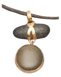 Lou Zeldis - Green Pebble Necklace - Lyst