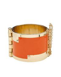 CC SKYE - Orange Enamel Hinge Cuff - Lyst