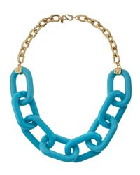 Kenneth Jay Lane | Blue Large Link Necklace | Lyst