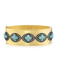 Freida Rothman | Green Marquis Clover Station Bangle | Lyst