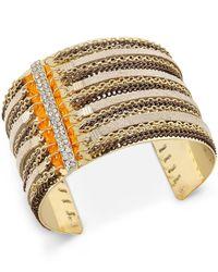 INC International Concepts | Metallic Gold-tone Chain Fringe Cuff Bracelet | Lyst