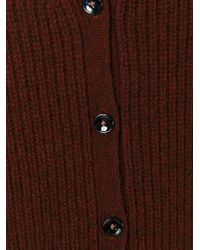 Paul by Paul Smith | Red V-neck Cardigan | Lyst