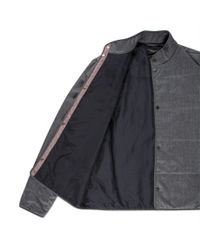Paul Smith | Gray Men's Grey Marl Wool-flannel Wadded Jacket for Men | Lyst