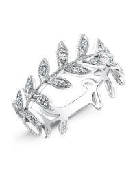 Anne Sisteron - 14kt White Gold Diamond Wreath Ring - Lyst