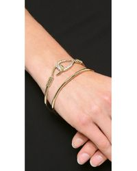Alexis Bittar - Metallic Orbiting Hook Bangle Bracelet - Gold - Lyst