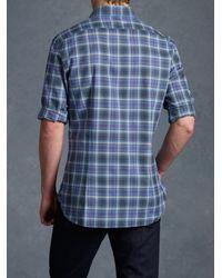 John Varvatos - Blue Basic Collar Sport Shirt for Men - Lyst