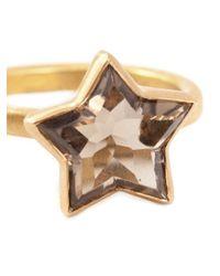 Marie-hélène De Taillac | Brown Smokey Quartz Star Ring | Lyst