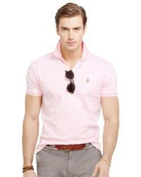 Polo Ralph Lauren | Pink Pima Soft-Touch Polo Shirt for Men | Lyst