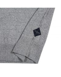 Paul Smith - Gray Men's Grey Marl V-neck Cotton-blend Sweater for Men - Lyst