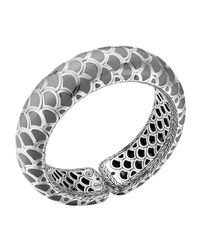 John Hardy | Metallic Naga Silver Enamel Scale Cuff With Gray Enamel | Lyst