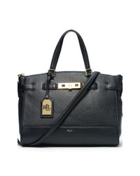 Ralph Lauren | Black Darwin Leather Satchel | Lyst