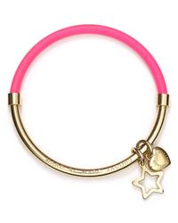 Marc By Marc Jacobs - Pink Heart Star Hula Hoop Bangle - Lyst