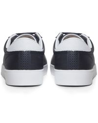 Fred Perry - Blue Spencer Perforated Trainers for Men - Lyst