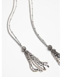 Free People - Metallic Womens Stone Tassel Bolo - Lyst