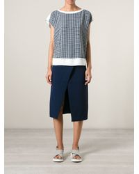 O'2nd - White Boxy Checked Top - Lyst
