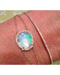 Anne Sisteron - Pink 14kt Rose Gold Opal Diamond Bracelet - Lyst