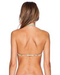 RVCA - Green Tide Tripper Triangle Bikini Bottoms - Lyst