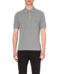 Vivienne Westwood | Gray Embroidered-logo Cotton-piqué Polo Shirt for Men | Lyst
