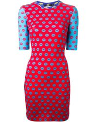 Markus Lupfer | Red Smacker Lips 'Lucy' Dress | Lyst