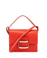 Roger Vivier - Red Icon Carre Mini Napa Shoulder Bag - Lyst