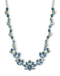 Givenchy | Blue Aqua Light Sapphiretone Crystal Collar Necklace | Lyst