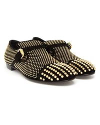 Giuseppe Zanotti - Metallic Studded Velour Slip-On Loafers for Men - Lyst